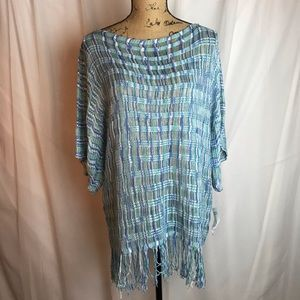 NWT NY Collection Crochet Tassel Tunic